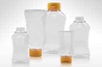 Ribbed Hour Glass Bottles